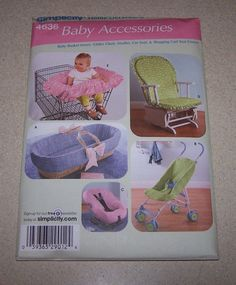 SIMPLICITY PATTERN 4636  BABY ACCESSORIES HOME DECORATING  NEW IN PACKAGE  #Simplicity