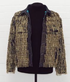 42188a582cef Customized Levis jacket by Leigh-Bowery (gold bobby pins!) Gold Hair Clips
