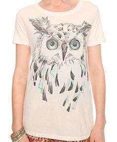 SKETCHED OWL TEE  $15.90