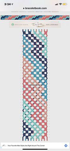 Freundschaftsarmband muster Bracelets – Fashionable and affordable attractions and various bracelet String Bracelet Patterns, Diy Bracelets Patterns, Yarn Bracelets, Diy Bracelets Easy, Embroidery Bracelets, Summer Bracelets, Bracelet Crafts, String Bracelets, Bracelet Designs