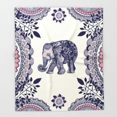 Buy Elephant Pink Throw Blanket by rskinner1122. Worldwide shipping available at Society6.com. Just one of millions of high quality products available.