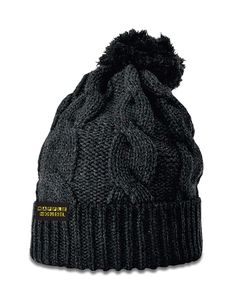 Chunk Twist Knit Beanie with Cuff – Waffle House Webstore Waffle House, Knit Beanie, Cable Knit, Cold Weather, Knitted Hats, Charcoal, Winter Hats, Wool, Knitting