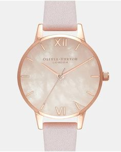 Check out our range of Olivia Burton such as this Women's Semi Precious Blossom & Rose Gold Watch - order yours here online today! Mimi Holliday, Jewellery Uk, Stone Heart, Pink Stone, Olivia Burton, Red Purple, Rose Gold Plates, Gold Watch, Rose Quartz