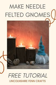 Beat the winter blues and add some creative respite to your day. This easy needle felting tutorial will have you creating your own seasonal decor in no time. All you need is a handful of wool and a felting needle. Maybe grab a mince pie on the way. #lincolnshirefenncrafts Christmas Crafts For Gifts, Christmas Gnome, Homemade Christmas Gifts, Craft Gifts, Needle Felting Tutorials, Video Tutorials, Seasonal Decor, Gnomes, Felt