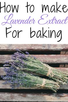 How to make the perfect Lavender extract for all your cooking and baking, or a calming cup of tea. Super easy recipe for Lavender Extract. Edible Lavender, Lavender And Lemon, Culinary Lavender, Lavender Recipes, Lavender Buds, Edible Flowers, Lavender Fields, Rose Flowers, Lavender Extract