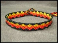 Video tutorial on diamond friendship bracelet pattern. The video is very awkwardly commented but if you can get past that it's a good tutorial if you're familiar with these types of bracelets.