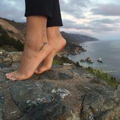 Mountain tattoo #bigsur #mountain #tiny #tattoo #ankletattoo