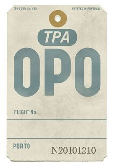 All sizes | Porto • Luggage Label | Flickr - Photo Sharing! — Designspiration
