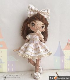 Repost from @olyaka_lab ~*~*~*~ Подписывайте свои работы тегом #knitcreativ - лучшие попадут в нашу ленту #кукла #куколка #амигуруми #ручнаяработа #doll #amigurumi #handmade