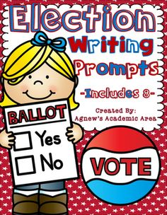 These Election themed writing prompts are a great option for morning work, journal entries, or even turn them into a writing process project. Get students thinking about the upcoming election and keep them engaged with meaningful writing.I have included 8 pages with a prompt, clip art and response space.
