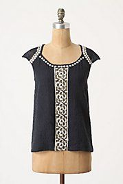 tops | black & white lace blouse {anthropologie}