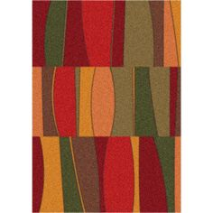 Modern Times Sinclair Tapestry Red Rug - 7521-c187 By Milliken