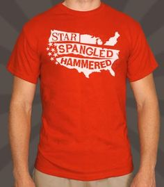 Is it us, or is that Star-Spangled Banner looking a little blurry? Hiccup!  -Professionally printed silkscreen  - High-quality, 100% cotton tee.  -Ships within 2 business days  - Designed and printed in the USA