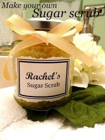 Rachel's Nest: Homemade sugar scrub