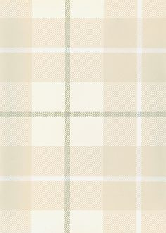 Ranold Wallpaper Tartan wallpaper in neutrals with grey and white