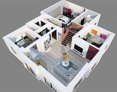 Casa cu mansarda cu 3 dormitoare, birou si garaj pentru 2 masini - living Living