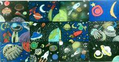 Les van Karin over planeten tekenen