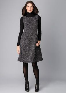 Wonder if sleeveless with a turtleneck would be better for the tweed dress