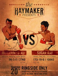 The Fight of the Century by Andrew Marco, via Behance