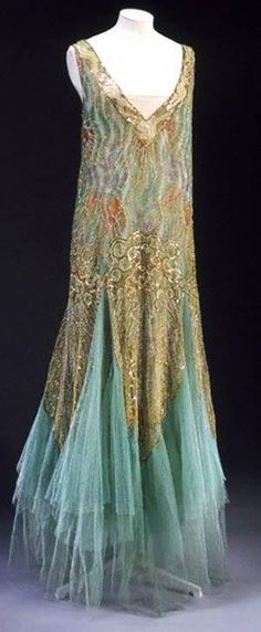 Charles Frederick Worth Dress, 1928, chiffon and sequins, Victoria and Albert Museum Collection, London.