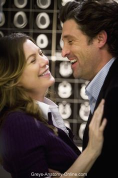 Meredith and Derek, Grey's Anatomy - Elevator Love Letter Derek Shepherd, Patrick Dempsey, Ellen Pompeo, Meredith Und Derek, Kendalll Jenner, Drama Tv Shows, Greys Anatomy Memes, Grays Anatomy, Medical Drama