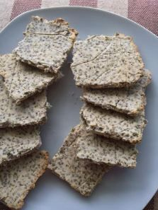 chia and coconut flour crackers