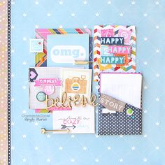 Ohmgosh - Scrapbook.com - Made with the Simple Stories Enchanted collection.
