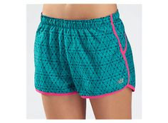 Momentum Short Graphic, Capri Breeze with Pink Glo & Poseidon, newbalance.com
