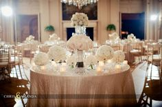 sweetheart table with bride's bouquet #ivory #rosecliff #mansion #neutral