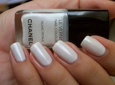 chanel, le vernis, nail polish, nails, white - inspiring picture on Favim.com