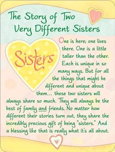 Blue Mountain Arts The Story of Two Sisters Miniature Easel-Back Print with Magnet Sister Poems, Sister Quotes Funny, Sister Birthday Quotes, Happy Birthday Sister, Daughter Quotes, Funny Quotes, Happy Mothers Day Sister, Sister Friend Quotes, Sister Sayings
