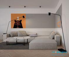 Projekt wnętrz salonu w domu jednorodzinnym w Bytomiu. Projekt opracowany przez ArchiGroup / Adam Kuropatwa. /Interior design - living room in a detached house in Bytom, Poland. Designed by #Archigroup. /  www.archigroup.pl
