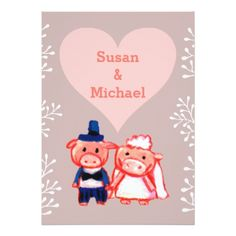 #wedding invitation pigs - #GroomGifts #Groom #Gifts Groom Gifts #Wedding #Groomideas Invitation Card Design, Wedding Invitation Templates, Custom Invitations, Wedding Invitations, Bridal Gifts, Rustic Wedding, Wedding Ideas, Pigs, Special Day