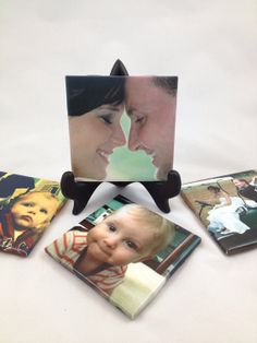 Set of Four Custom Photo Tile Coasters. by TheCoasterAttic on Etsy, $20.00