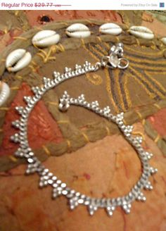 30offSALE Unique Indian Silver Dotted Anklet <3 shop for good karma supports welfare programs in rural india