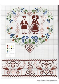 ru / Foto N ° 35 - 91 - by lacey Cross Love, Cross Stitch Heart, Cross Stitch Borders, Cross Stitch Samplers, Cross Stitch Flowers, Cross Stitching, Embroidery Hearts, Embroidery Sampler, Diy Embroidery