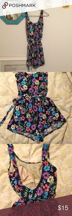 Floral swimsuit/romper A cute, classic bathing suit with shorts. Size 12, I don't really know what size this best fits as a true swimsuit -- I'm a small/4 and wore it as a romper. Brand is Blair.    🚫 offers  👍🏻 trades  🌻styles like:urban outfitters american apparel vintage show me your mumu brandy melville Swim One Pieces