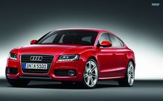 Tuning red Audi A background Picture A