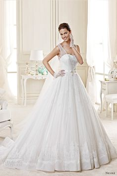 nicole spose bridal 2015 style 51 niab15032iv strapless sweetheart a line watteau train wedding dress