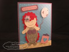 Stampin' Up Ariel Little Mermaid Punch Art by Andi Potler