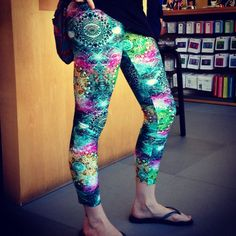 The Sacred Geometry Psychedelic Explosion Leggings - Great for yoga, festivals, Burning Man, EDM, partying, raves, dance, etc.