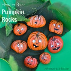 If you like painting rocks, here is a fun autumn craft for you and the kids - turn rocks into jack-o-lantern pumpkins!