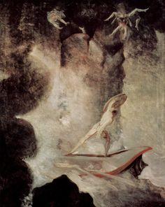 Henry Fuseli (Swiss 1741–1825) [Romanticism] Odysseus in front of Scylla and Charybdis, 1794-1796.