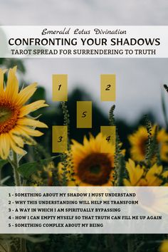 This one looks like a pretty little 5 card tarot spread but it sure packs a punch. I created this tarot spread to help us dig right down to our core to better understand our shadows.