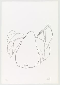 Ellsworth Kelly. Pear III (Poire III)  from Suite of Plant Lithographs. 1965-66, published 1966