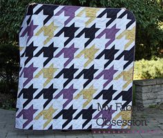 My Fabric Obsession: Quilt Finish: Houndstooth - tula pink pattern