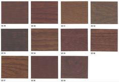 Stain colors: Want to stain your new or newly resurfaced wood floors? Rhodes Hardwood offers many different shades of wood floor stains; Hardwood Floor Stain Colors, Wood Floor Finishes, Types Of Wood Flooring, Wood Stain Colors, Hardwood Floors, Brown Wood, Brown And Grey, Duraseal Stain, Oil Based Stain