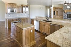 knotty alder cabinets - like the floor color too and counters...