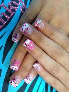 Leopard Print Acrylic Nail Tips nails | Nail acrylic nail tips