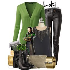 Loki by amarie104 on Polyvore featuring Balmain, H&M, Reed Krakoff, D'Yach, Laura Mercier and Zoya